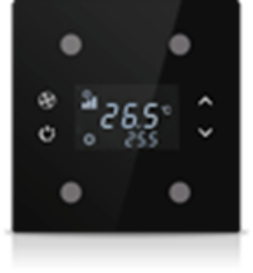 Picture of Rosa Solid Thermostat 2F Black