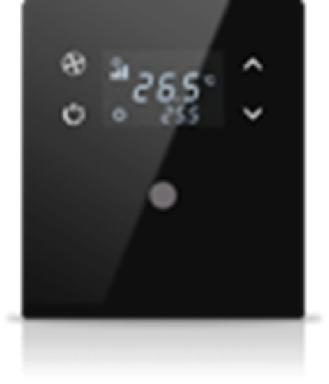 Picture of MONA 1 BUTTON THERMOSTAT BLACK