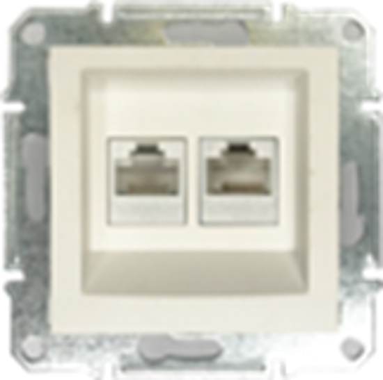 Picture of DOUBLE RJ45 CAT.6 UTP DATA PEARL WHITE