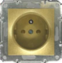 Picture of SCHUKO SINGLE SOCKET 2P+E (p-earth) GOLD