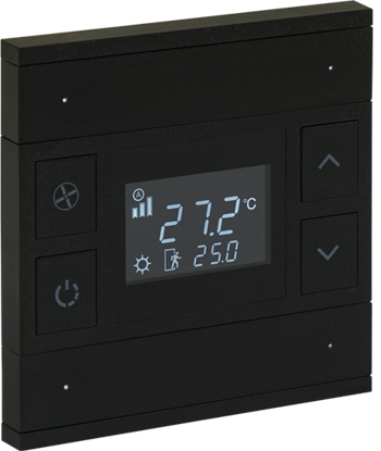 Picture of ORIA THERM 2 FOLD ANTHRACITE BLACK GLASS FRONT STATUS