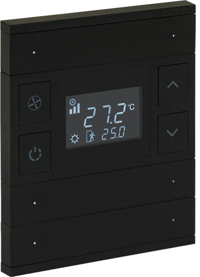 Picture of ORIA THERM 3 FOLD ANTHRACITE BLACK GLASS FRONT STATUS