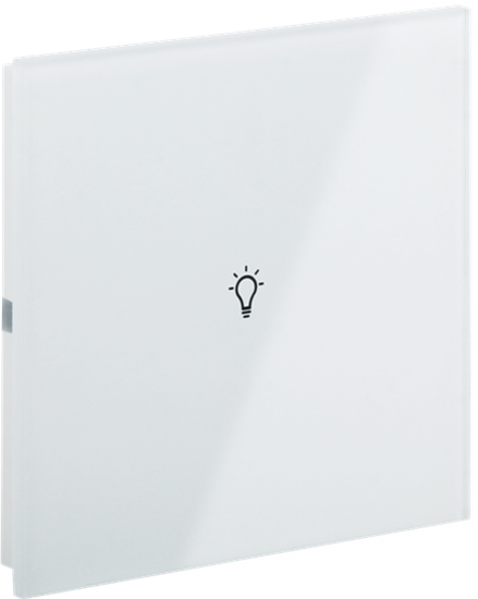 Picture of Rosa Crystal Switch Single White Status Icon