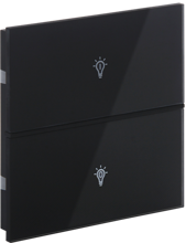 Picture of Rosa Crystal Switch 1F Black Status Icon