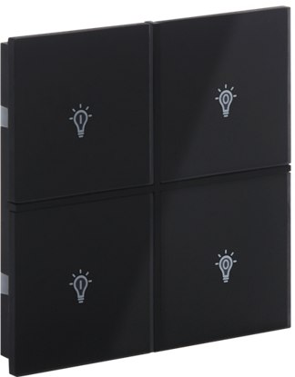 Picture of Rosa Crystal Switch 2F Black Status Icon
