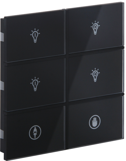 Picture of Rosa Crystal Switch 3F Black Status Icon