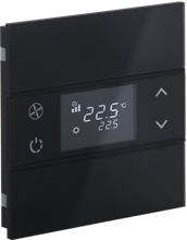 Picture of Rosa Crystal Thermostat 1F Black Status No Icon