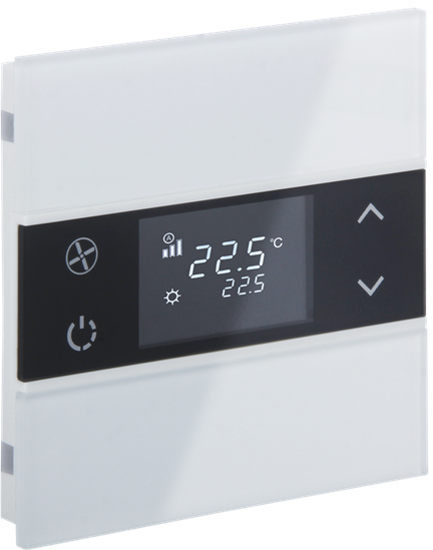 Picture of Rosa Crystal Thermostat 1F White Status No Icon