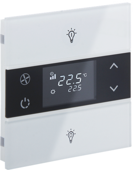 Picture of Rosa Crystal Thermostat 1F White Status Icon