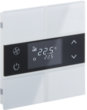 Picture of Rosa Crystal Thermostat 2F White Status No Icon