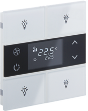 Picture of Rosa Crystal Thermostat 2F White Status Icon