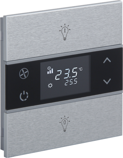 Picture of Rosa Metal Thermostat 1F Natural Status Icon
