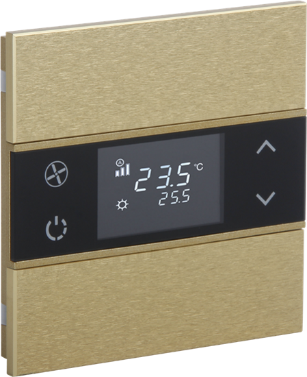 Picture of Rosa Metal Thermostat 1F Gold Status No Icon