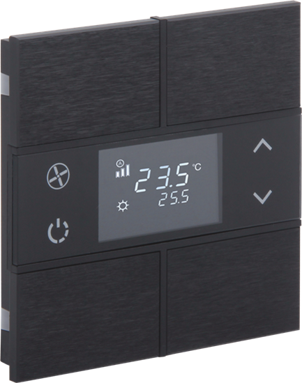 Picture of Rosa Metal Thermostat 2F Anthracite Status No Icon