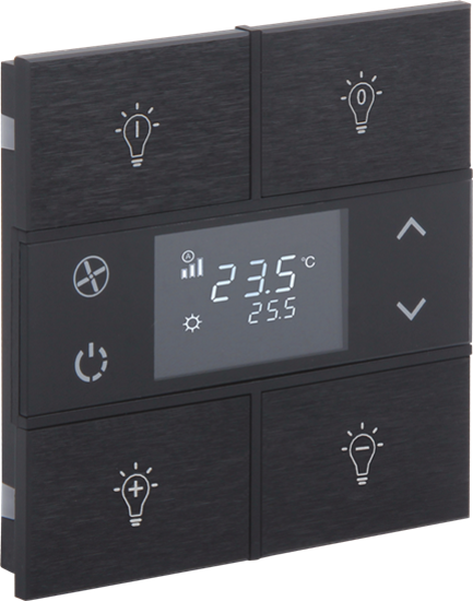 Picture of Rosa Metal Thermostat 2F Anthracite Status Icon