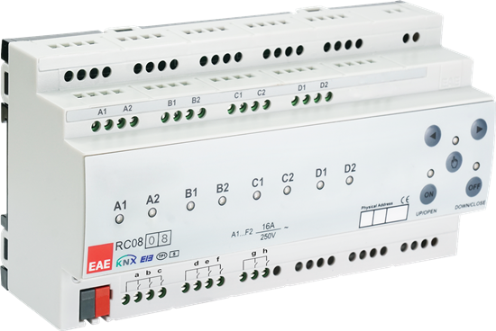 Picture of KNX Room Control Unit 8ch,8 Input Fancoil, Switch, Blind actuator