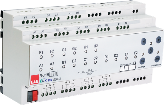 Picture of KNX Room Control Unit 16ch, 16 Input Fancoil, Switch, Blind actuator