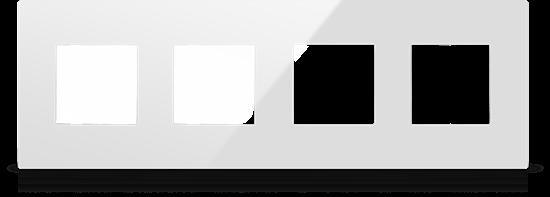 Picture of MONA  FRAME MODULAR EUROPEAN QUADRIPPLE 2M WHITE