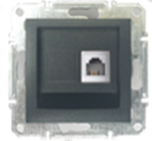 Picture of SINGLE RJ11 TELEPHONE ANTHRACITE