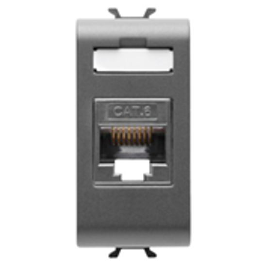 Picture of RJ45 SOCKET 4 PAIRS CATEGORY 6 UTP 1M ANTHRACITE
