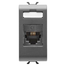 Picture of TELEPHONE CONNECTOR RJ11 IN-OUT 1M ANTHRACITE