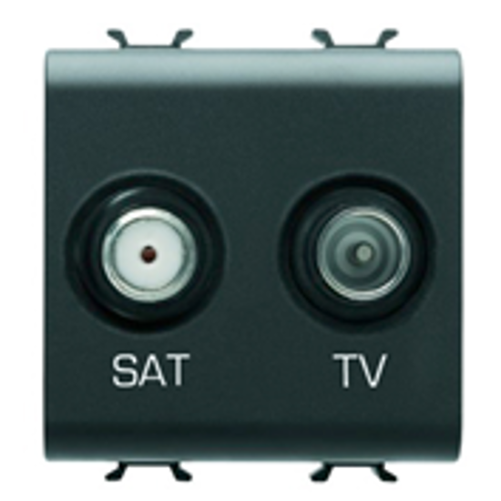 Picture of TV+SAT SOCKET 2M ANTHRACITE