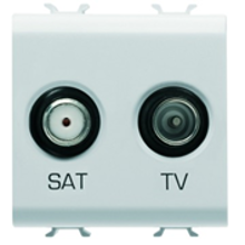 Picture of TV+SAT SOCKET 2M PEARL WHITE