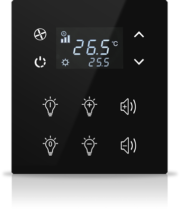 Picture of MONA 6 BUTTON THERMOSTAT BLACK