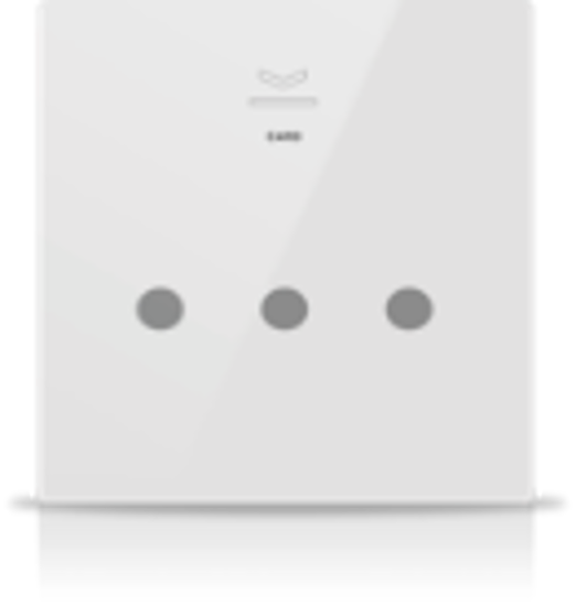 Picture of MONA 3 BUTTON CARD HOLDER WHITE