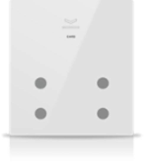 Picture of MONA 4 BUTTON CARD HOLDER WHITE