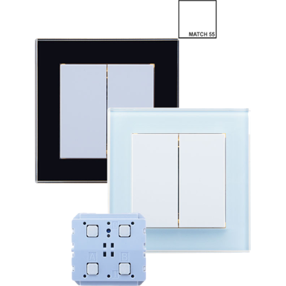 Picture of Weinzierl KNX RF - ENO Push Button 440 secure with single rocker - KNX button series MATCH 55
