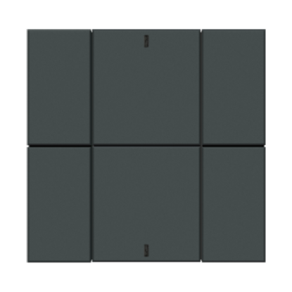 Picture of iSwitch - 6 Button Anthracite Matt Plastic