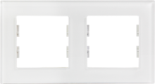 Picture of ROSA GLASS FRAME 2 GANG PEARL WHITE