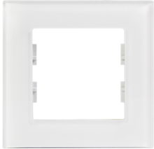 Picture of ROSA GLASS FRAME 1 GANG PEARL WHITE