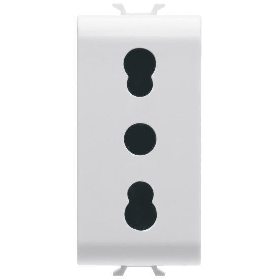 Picture of ITALIAN STANDARD SOCKET-OUTLET 16A DUAL AMPERAGE PEARL WHITE
