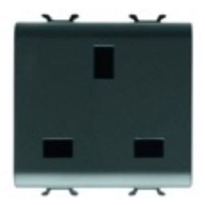 Picture of S. OUTLET 2M 2P+E 13A UK ANTHRACITE