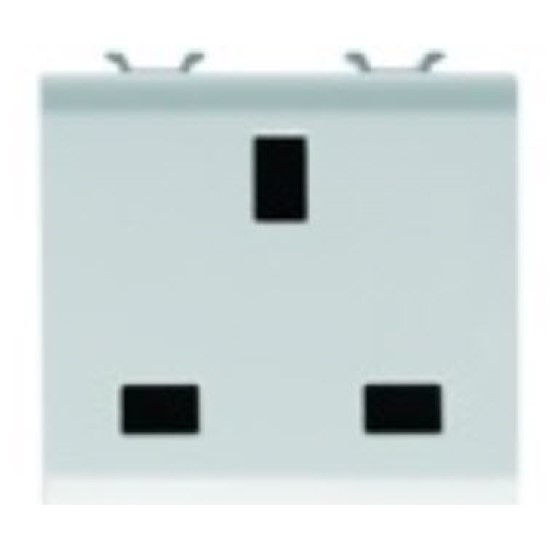 Picture of S. OUTLET 2M 2P+E 13A UK PEARL WHITE