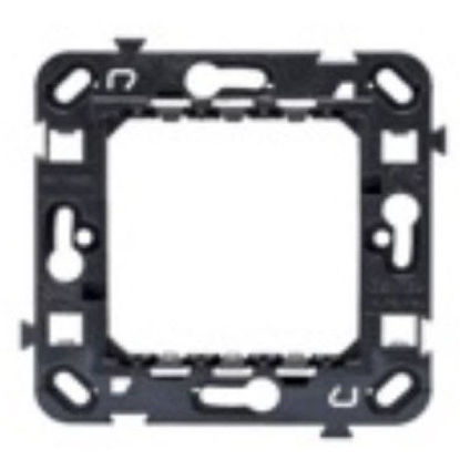 Picture of INT.STANDARD SUPPORT 2 GANG WITH SCREWS ANTHRACITE
