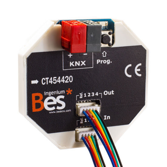 Picture of On/Off actuator - 4 inputs - 4 outputs SELV - Flush mount