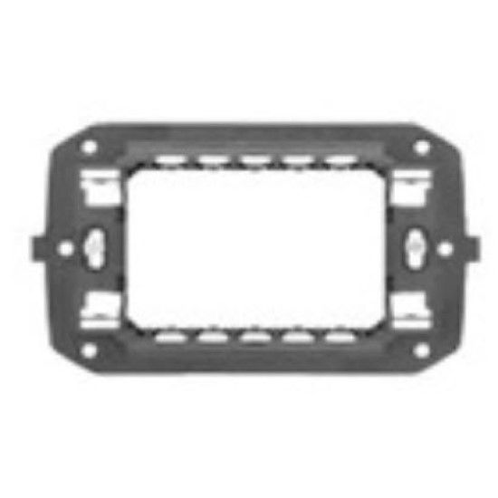 Picture of ITALIAN STANDARD SUPPORT 3 GANG CHORUS ANTHRACITE