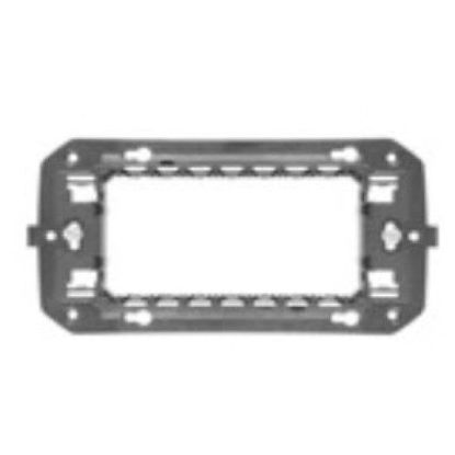 Picture of ITALIAN STANDARD SUPPORT 4 GANG CHORUS ANTHRACITE