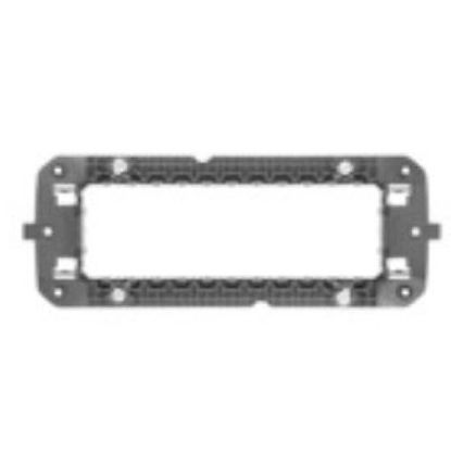 Picture of ITALIAN STANDARD SUPPORT 6 GANG CHORUS ANTHRACITE