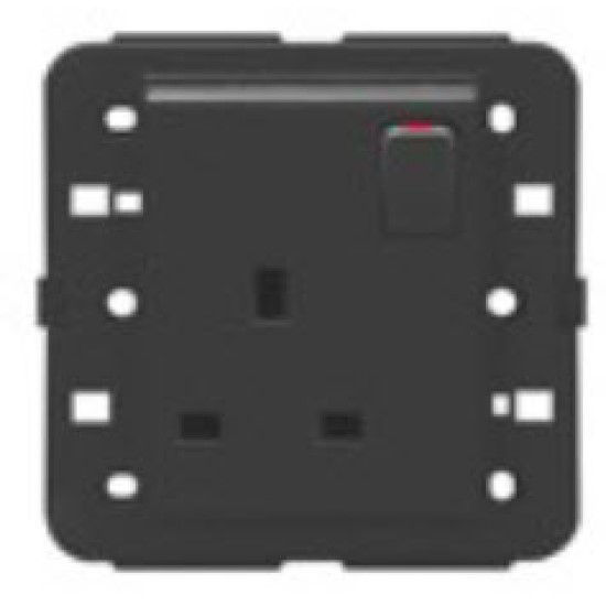 Picture of SWITCHED SOCKET BRITISH STAN.2P+E 13A ANTHRACITE