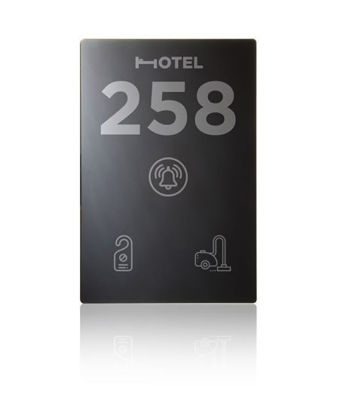 Picture of Vertical touch panel - Hotel door - DND/MUR - Design black