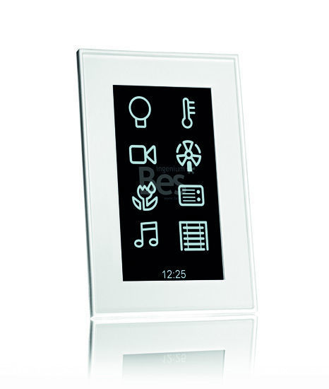 """Picture of 4.3"""" Vertical touch screen - Integrated Web server - White"""