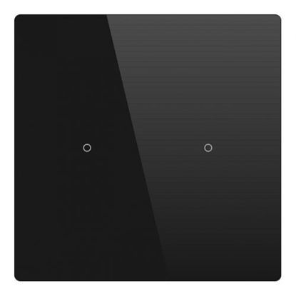 Picture of Cubik-SQ2 black Basic push-button 2 areas - Temp and humidity sensor