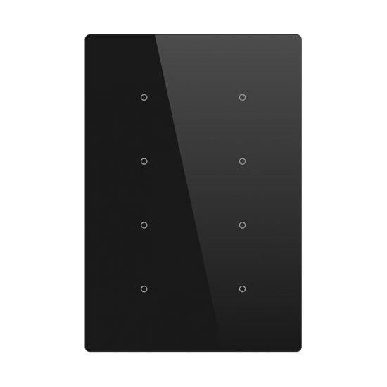 Picture of Cubik-V8 black Basic push-button 8 areas - Temp and humidity sensor