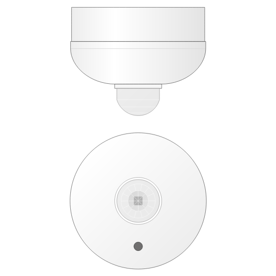 Picture of Infrared movement detector - Constant regulation - Surface