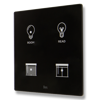 Picture of Cubik-SQ4 black Basic push-button 4 areas - Temp and humidity sensor