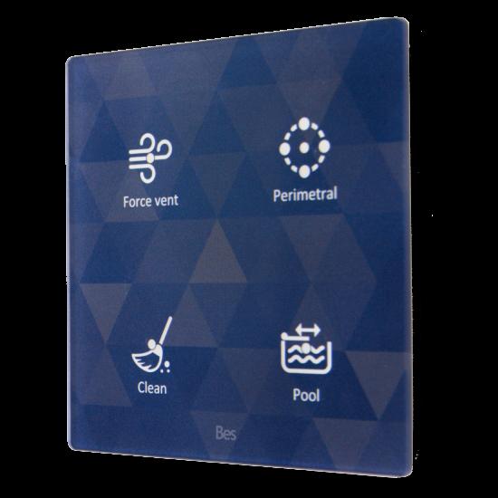 Picture of Cubik-SQ4 white Capriccio  push-button 4 areas - Temp and humidity sensor
